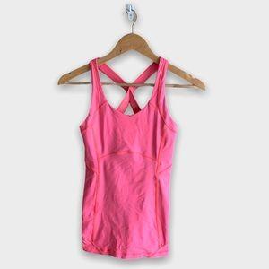 Lululemon Pink Athletic Tank Top Built In Bra